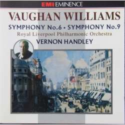 Vaughan Williams: Symfoni nr. 6 og 9. Vernon Handley, Royal Liverpool Philharmonic Orchestra. 1 CD. EMI