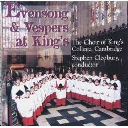 Evensong & Vespers at King's. Stephen Cleobury. 1 CD. Brilliant Classics