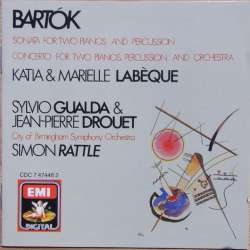 Bartok: Sonate for 2 klaverer og slagtøj. Simon Rattle. 1 CD. EMI