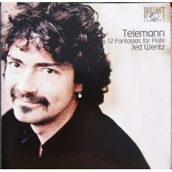 Telemann: 12 fantasier for solo fløjte. Jed Wentz. 1 CD. Brilliant Classics