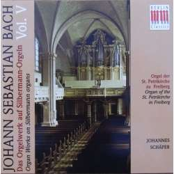 Bach: Organ works on Silbermann-Organs. Vol. 5. Johannes Schäfer. 1 CD. Berlin Classics