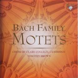 Bach Famely Motets. Clare College Choir. Thimothy Brown. 1 CD. Brilliant Classics