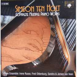 Simeon Ten Holt: Komplette værker for fire og otte hændig klaver. 11 CD. Brilliant Classics
