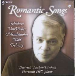 Romantic songs by Schubert, Weber, Wolf, Debussy. Fischer-Dieskau, Hartmut Höll. 5 CD. Brilliant Classics