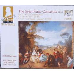 Mozart: Piano concertos Nos 4, 9, 14, 18, 24, 26 & 27. Derek Han, Philharmonia. Paul Freeman. 3 CD. Brilliant Classics