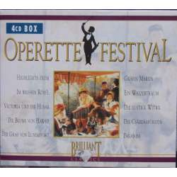 Operette festival. All the best in highlights. 4 CD. Brilliant Classics