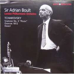Tchaikovsky: Symphony no. 3. + 1812 overture. Sir Adrian Boult, London Philharmonic. 1 CD. Brilliant Classics.
