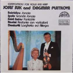 Compositions for violin and harp by Spohr, Donizetti, Rossini. Josef Suk & Dagmar Platilova. 1 CD. Supraphon