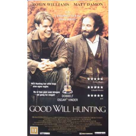 Good Will Hunting, with Matt Damon and Robin Williams. 1 VHS