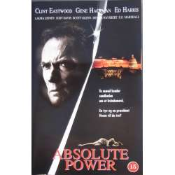 Absolute Power med Clint Eastwood, Gene Hackman og Ed Harris. 116 min. 1 VHS