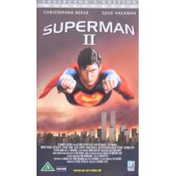 Supermann II. With Christopher Reeve and Gene Hackman. 125 min. 1 VHS