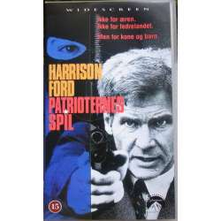 The Patriot Games by Tom Clancy with Harrison Ford. 112 min. 1 VHS