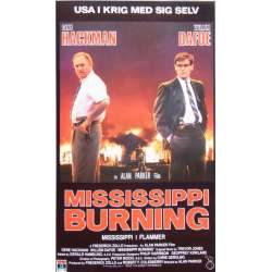 Mississippi Burning with Gene Hackman and Willem Dafoe. 1 VHS