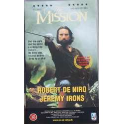 The Mission. Robert De Niro and Jeremy Irons. 125 min. 1 VHS