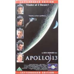 Apollo 13. Tom Hanks, Kevin Bacon, Bill Paxton, Gary Sinise og Ed Harris. 133 min. 1 VHS