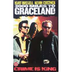 3000 Miles to Graceland. Kevin Costner og Kurt Russell. Action. 1 VHS