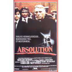 Absolution. Thriller med Richard Burton. 99 min. 1 VHS