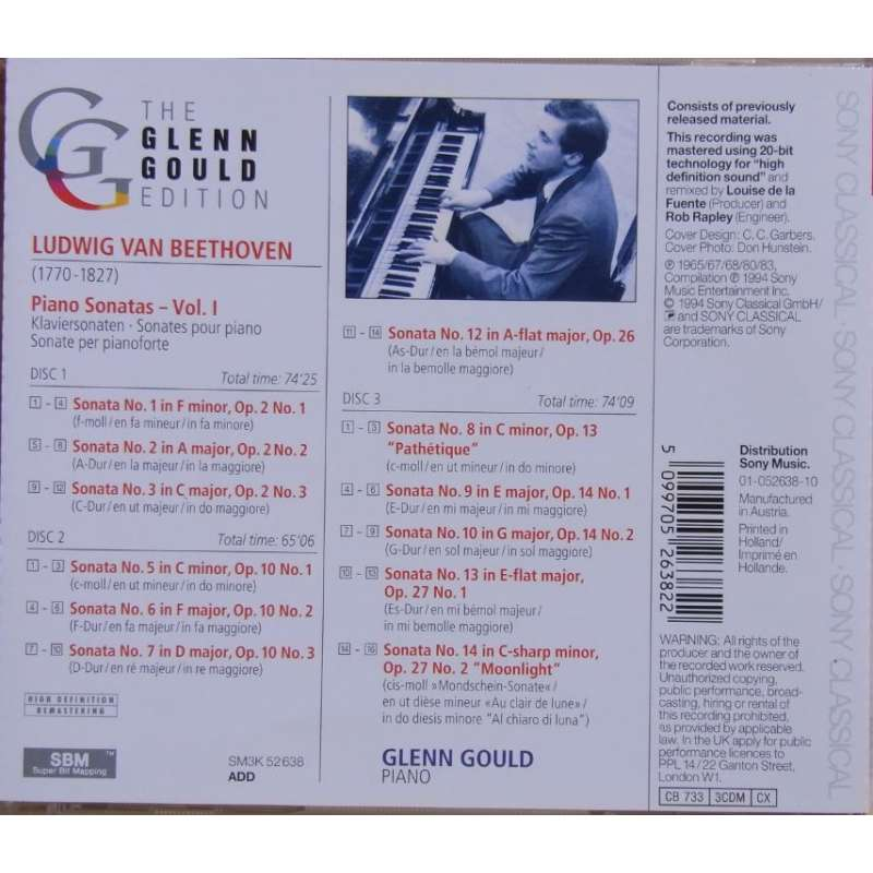 a place to call home box set glenn gould bach beethoven schoenberg plade klassikeren ... Beethoven: Piano Sonatas nos.