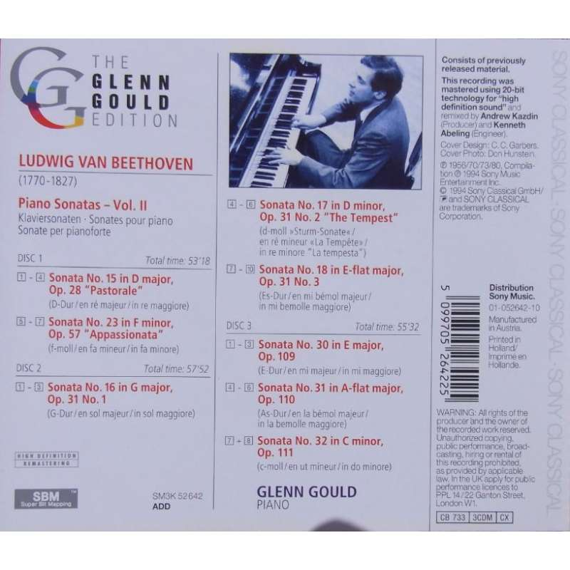 a place to call home box set glenn gould bach beethoven schoenberg plade klassikeren ... Beethoven: Piano Sonata nos. 15, 16, 17, 18, 23, ...
