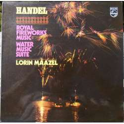 Handel: Royal Fireworks music & Water music suite. Lorin Maazel, Berlin Radio SO.. 1 LP. Philips