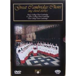 Great Cambridge Choir. King's College Choir. Stephen Cleobury. 3 DVD Brilliant Classics