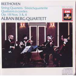 Beethoven: String Quartet. Op. 18, no. 3 & 4. Alban Berg Quartet. 1 CD. EMI