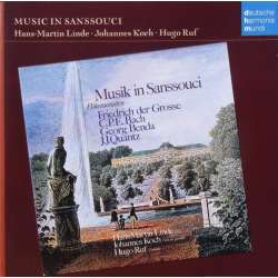 Music in Sanssouci. Flute Works. Frederick the Great, CPE. Bach, Benda, Quanz. Hans Martin Linde, Hugo Ruf, Johannes Koch. 1 CD.