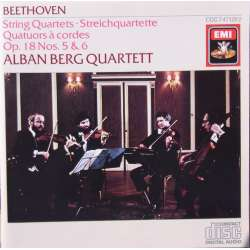 Beethoven: String Quartet. Op. 18, nos. 5 & 6. Alban Berg Quartet. 1 CD. EMI