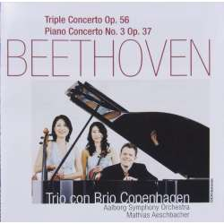 Beethoven: Triple concerto + Piano Concerto no. 3. Trio Con Brio. 1 CD. CDK 1050