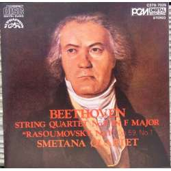Beethoven: String Quartet no. 7. Op. 59/1. Smetana SQ. 1 CD. Supraphon