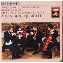 Beethoven: String Quartet. Op. 59, no. 2. + Op. 95. Alban Berg SQ. 1 CD. EMI