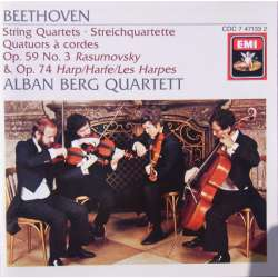 Beethoven: String Quartet. Op, 59/3 & Op. 74. Alban Berg Quartet. 1 CD. EMI