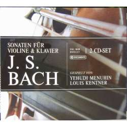 J. S. Bach: Violin Sonatas. BWV 1014-1019, Yehudi Menuhin & Louis Kentner. 2 CD. New Copy.