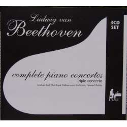 Beethoven: Klaverkoncert nr. 1-5. Michael Roll, RPO. Howard Shelley. 3 CD. Membran