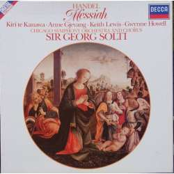 Handel: Messiah. Georg Solti. te Kanawa, Gjevang, Chicago SO. 3 LP. Decca