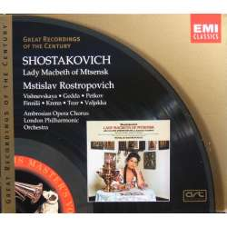 Shostakovich: Lady Macbeth of Mtsensk. Vishnevskaya, Rostropovich. 2 CD. EMI. GRC