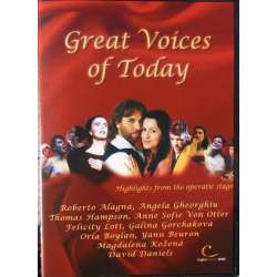 Great Voices of Today. Roberto Alagna, Angela Gheorghiu, Thomas Hampson, Anne Sophie von Otter, Felica Lott. 1 DVD.
