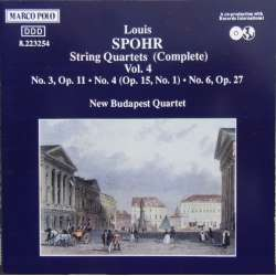 Louis Spohr: String Quartets nos. 3, 4, 6. New Budapest Quartet. 1 CD. Marco Polo