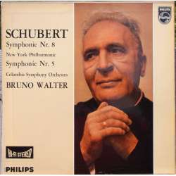 Schubert: Symfoni nr. 5 & 8. Bruno Walter, Columbia Symphony Orchestra. 1 LP. Philips