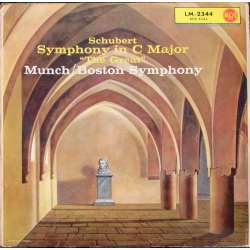 Schubert: Symphony no. 9. Charles Munch. Boston Symphony Orchestra. 1 LP. RCA