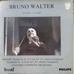 Mozart: Symfoni nr. 35 & 41. Bruno Walter. Columbia SO. 1 LP. Philips