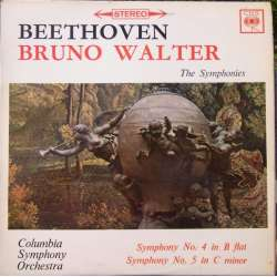 Beethoven: Symfoni nr. 4 & 5. Bruno Walter. Colombia SO. 1 LP. CBS