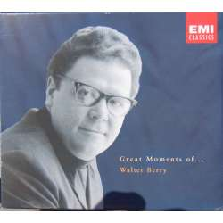 Walter Berry: Great moments. Bach, Mozart, Gluck, Purcell, Richard Strauss. 3 CD. EMI.