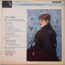 A French Recital, Ravel, Debussy. de los Angeles. G. Pretre. 1 LP. EMI. ALP 1979