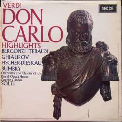 Verdi: Don Carlos. Georg Solti. (uddrag). 1 LP. Decca SET 353