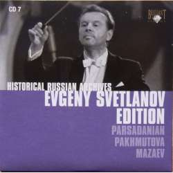 Parsadanian: Symfoni nr. 2. Pakhmutova: Concerto for Orchestra. Evgeny Svetlanov. USSR SO. 1 CD. Historical Russian Archives
