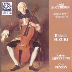 Boccherini: Sonatas for cello and harpsicord. Zipperling, Penson, Suzuki. 1 CD. Ricercar