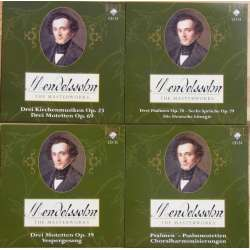 Mendelssohn: Church music. Motetts, Psalms, Die Deutsche Lirturgie, Nicol Matt, Chamber Choir of Europa. 4 CD Brilliant Classics