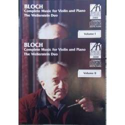 Ernst Bloch: Complete works for violin og piano. The Wellerstein duo. 2 CD. Arabesque