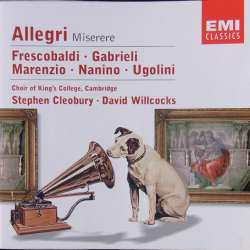 Allegri: Miserere. etc. King's College Choir, Stephen Cleobury. 1 CD. EMI